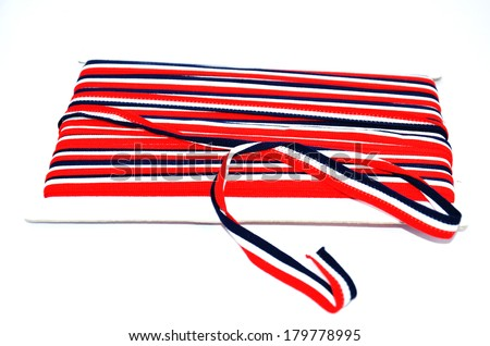Stretch fabric or Elastic - stock photo