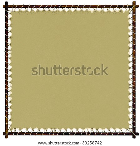 Stretched leather sign - stock photo