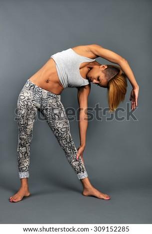 stretching - stock photo