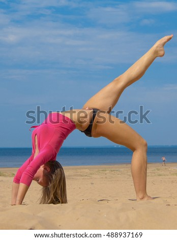 Stretching Beach Beauty