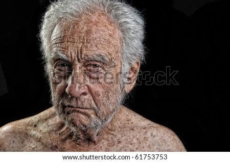 Striking Image of a senior man Very Upset - stock photo