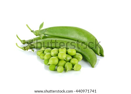 String beans isolated on white background - stock photo