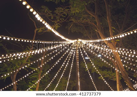 string light carnival style - stock photo