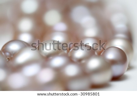 string of pearls - stock photo