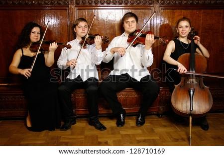 String quartet - stock photo