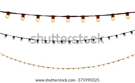 string wired bulbs on white background - stock photo