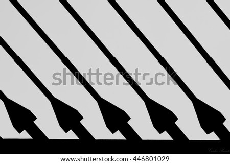 Strings from a bridge - stock photo
