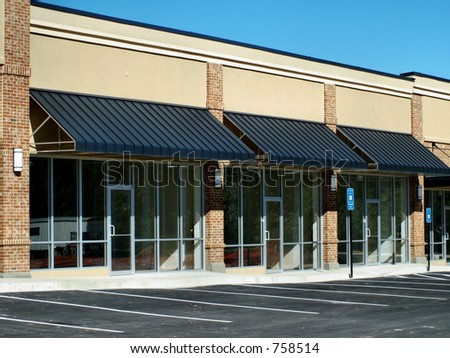 Strip Center Construction - stock photo