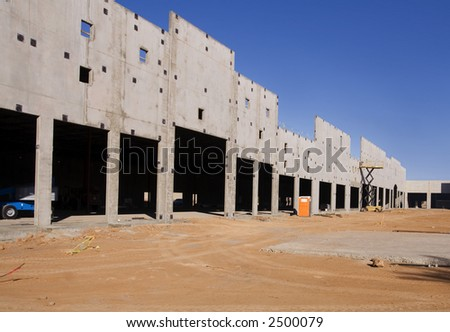 Strip Mall Construction - stock photo