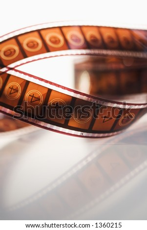 Strip of movie film - stock photo
