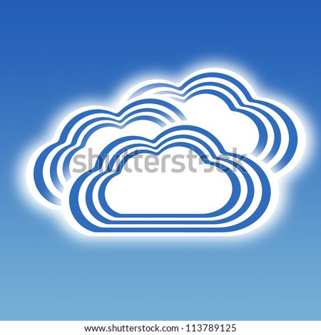Stripe design Cloudy, Weather set - stock photo