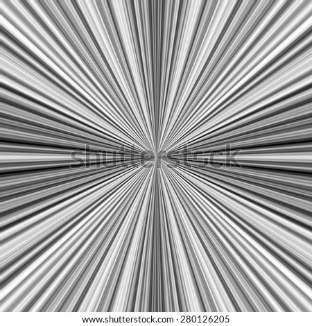 Stripe pattern showing lines coming from center of image - stock photo