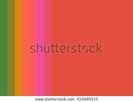 Striped Background in bright orange/pink/gold/green, vertical stripes, color palette - stock photo