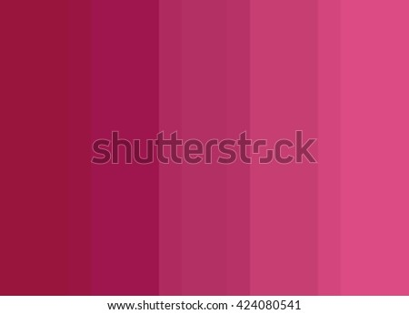 Striped Background in bright pink to deep red gradient, vertical stripes, color palette - stock photo