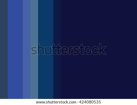 Striped Background in bright to deep blues, vertical stripes, color palette - stock photo
