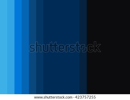 Striped Background in bright turquoise to midnight blue gradient, vertical stripes, color palette - stock photo