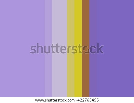 Striped Background in soft bright lavenders with bright gold/copper accents, vertical stripes, color palette - stock photo