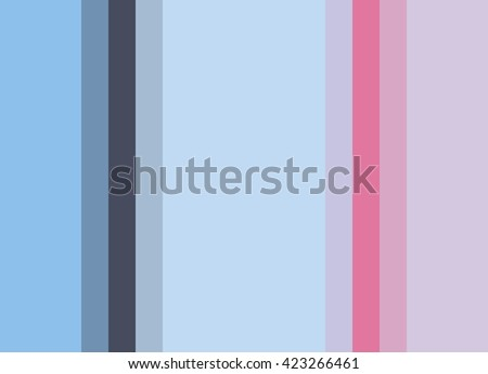 Striped Background, pale to bright blues and pinks with deeper accents, vertical stripes, color palette - stock photo