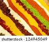 striped background (spices) - stock photo