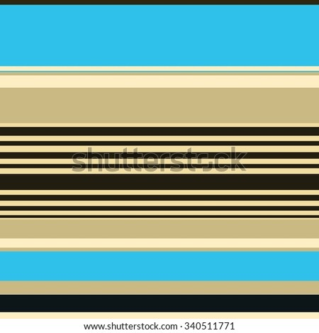 striped background with abstract thick and thin random lines in bright sky blue, black, brown and beige colors, artsy background stripes with smooth texture - stock photo