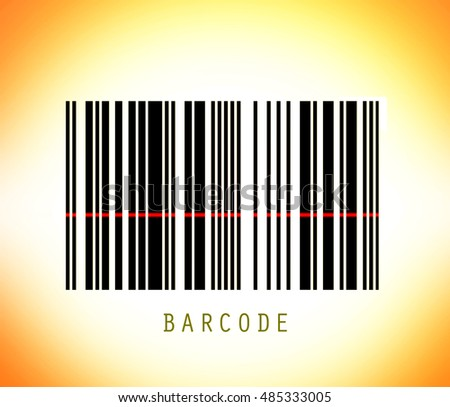 Striped barcode with laser line