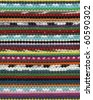Striped colorful rug - stock photo