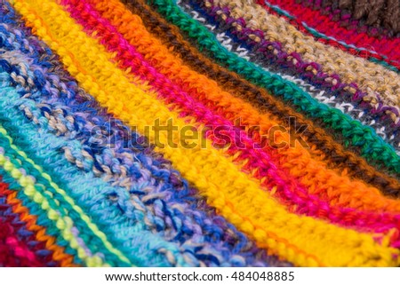striped colorful wool texture handmade patten closeup macro blue red green yellow pink purple orange beige white black