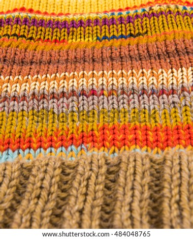 striped colorful wool texture handmade patten closeup macro blue red yellow pink purple orange beige brown
