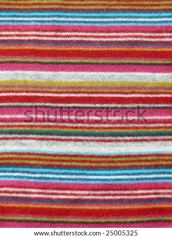 Striped crisp colorful woolen fabric. More of this motif & more fabrics in my port. - stock photo