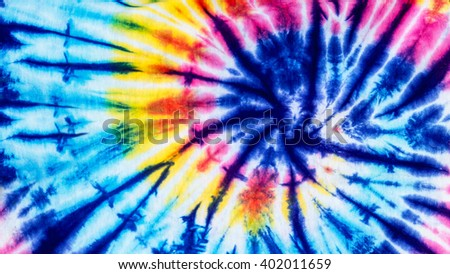 Striped Dye Pattern with colorful tie dye technique, Fabric and textile background - stock photo
