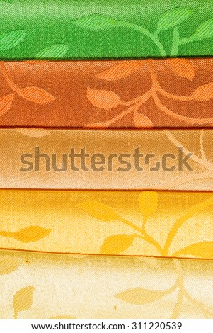 striped fabric as background