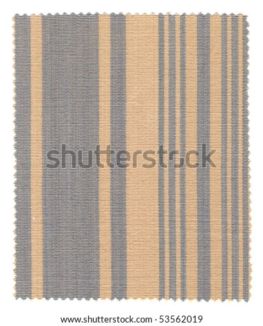 Striped Fabric Swatch (beige and blue) with zigzag edges