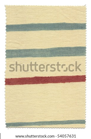 Striped Fabric Swatch with trimmed zigzag edges