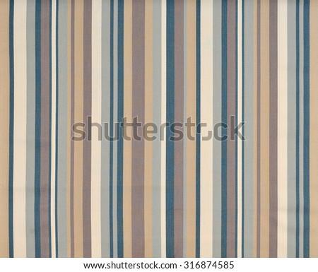 striped fabric wallpaper - stock photo