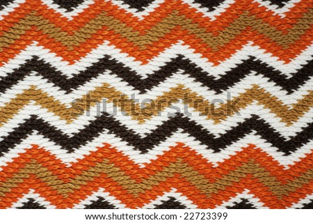 Striped fall color knitting work