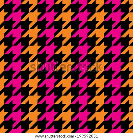 Striped houndstooth pattern in three colors repeats seamlessly. - stock photo