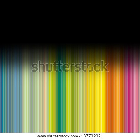 Striped multicolor background with black gradient - stock photo