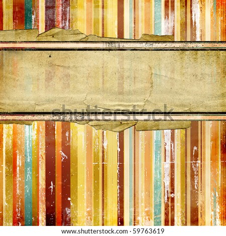 striped old paper with place for text - stock photo