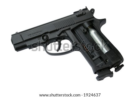 striped pneumatic gun (file containes Photoshop clipping path)