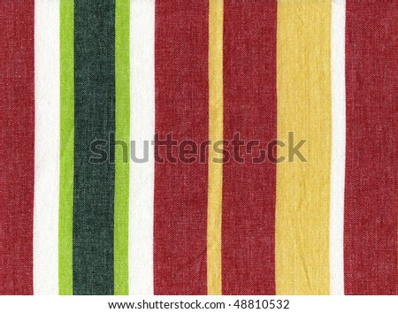 Striped Real Cloth Detailed Cotton Textile