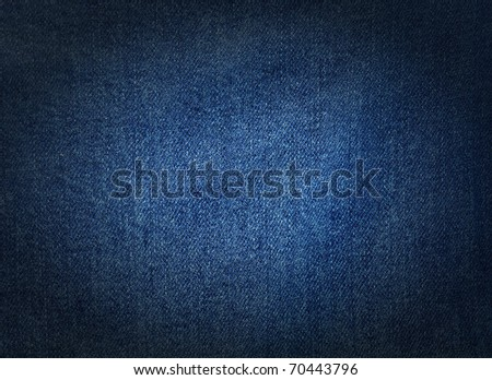 Striped textured used blue jeans denim fabric grunge background - stock photo