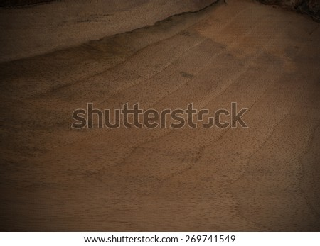 striped walnut wood textured background - stock photo