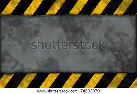 striped warning background - illustration