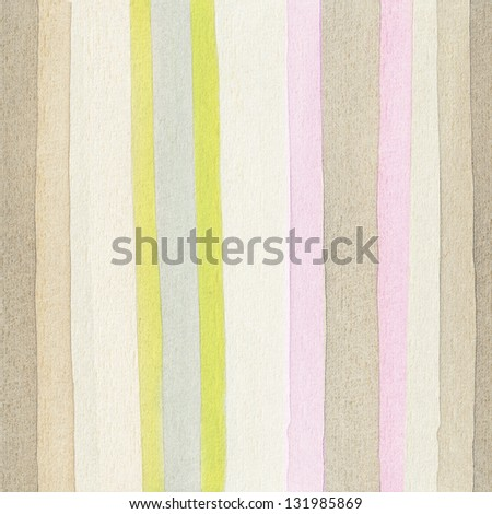 Striped watercolor background, seamless horizontal - stock photo