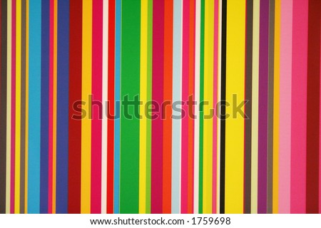 Stripes of colors on a window pane. - stock photo