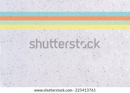 stripes on linen textile - stock photo