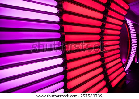 Stripped Light Background Texture on the Wall - stock photo