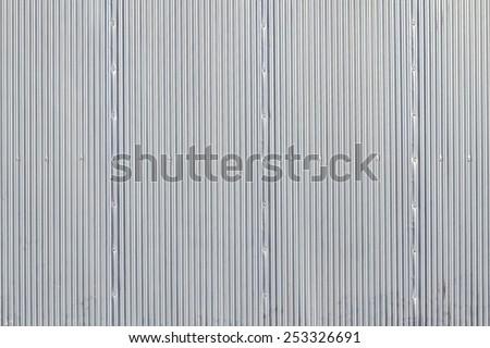 Stripped texture metal background, garage door - stock photo