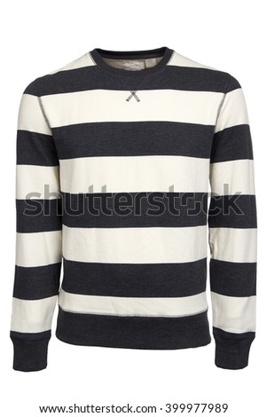 Stripped unisex sweater - stock photo