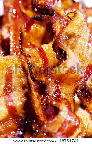 Strips of Bacon - stock photo